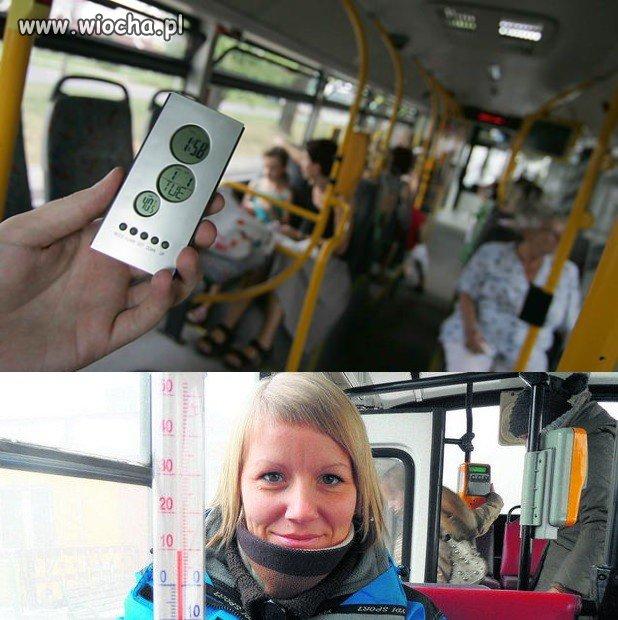 Temperatura w autobusie latem + 40 stopni