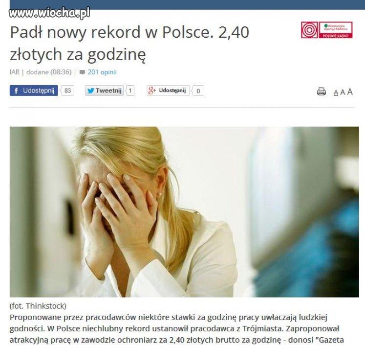 Pad� nowy rekord w Polsce.