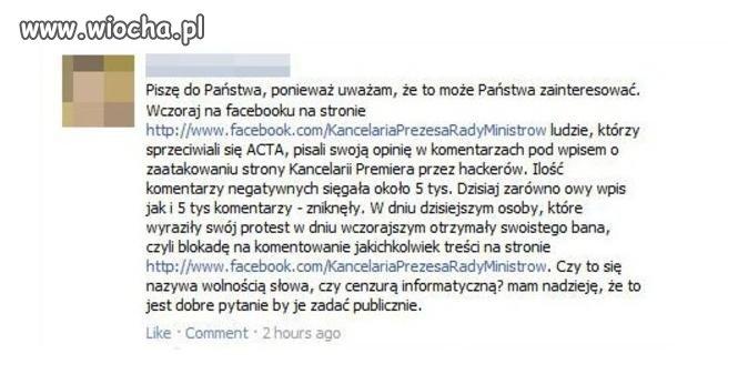 ACTA - dziś tylko ban. Jutro ABW?