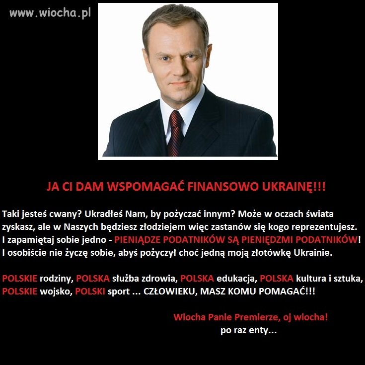Pan Premier chce wspomóc finansowo Ukrainę