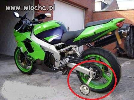 Nauka jazdy na motorze...