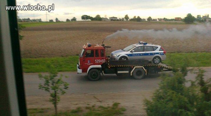 Popołudniowy patrol Policji