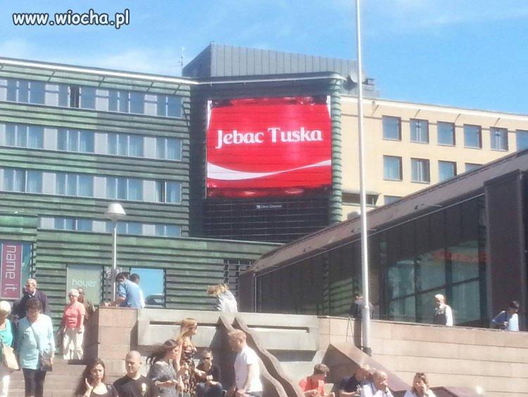 Telebim w centrum Oslo...