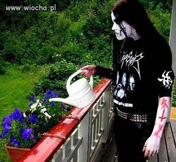 Synuś podlej kwiatuszki..