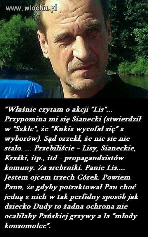 Kukiz na temat akcji Lis/Karolak ...