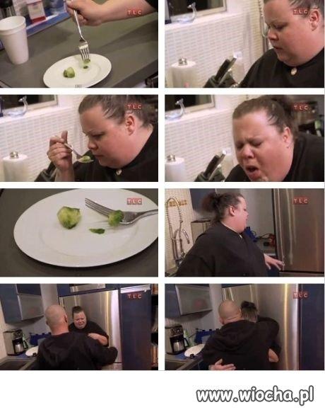 Mało się nie udusiła od tego warzywa