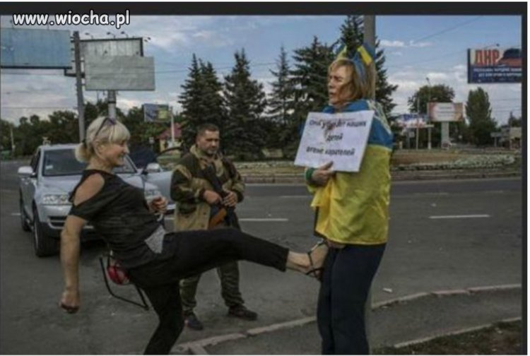 Tak w Doniecku traktuj� Ukrai�c�w
