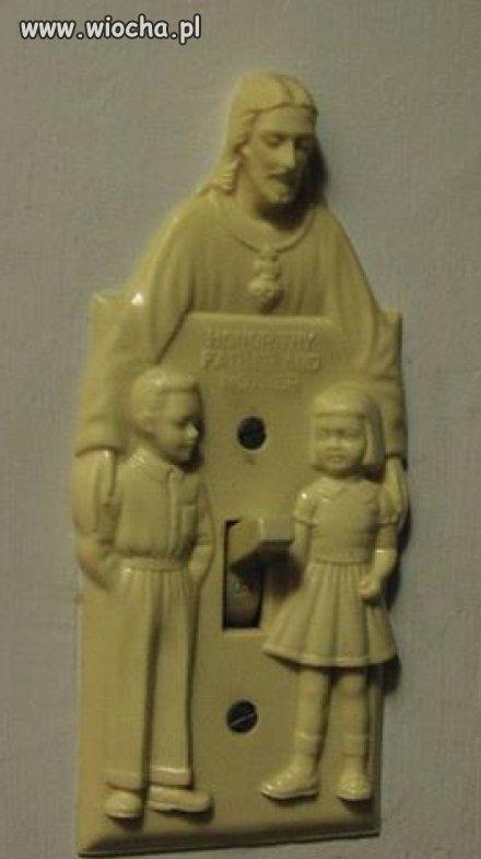 Włącznik światła w kościele...