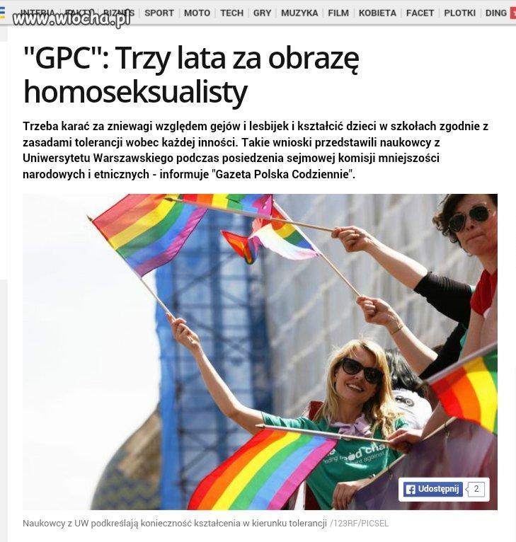 Dlaczego obraza homosia ma być inaczej karana