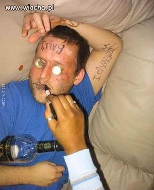 Nigdy nie zasypiaj w trakcie imprezy