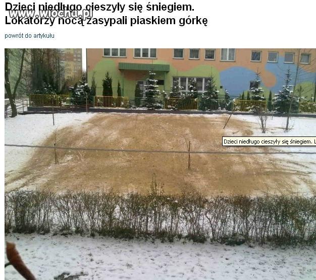 Zakaz gry w piłkę, bitwy na śnieżki, zjeżdżania...