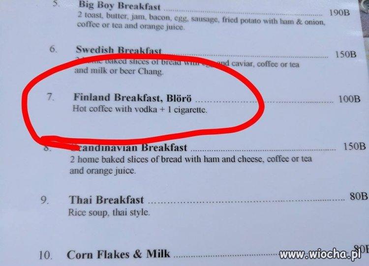 Fińskiego śniadania propozycja