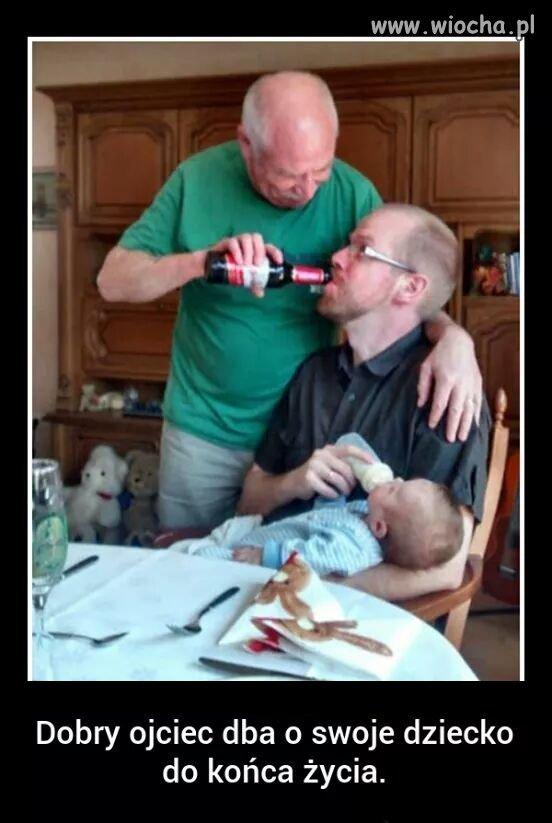 Tatuś dba o swoje dziecko