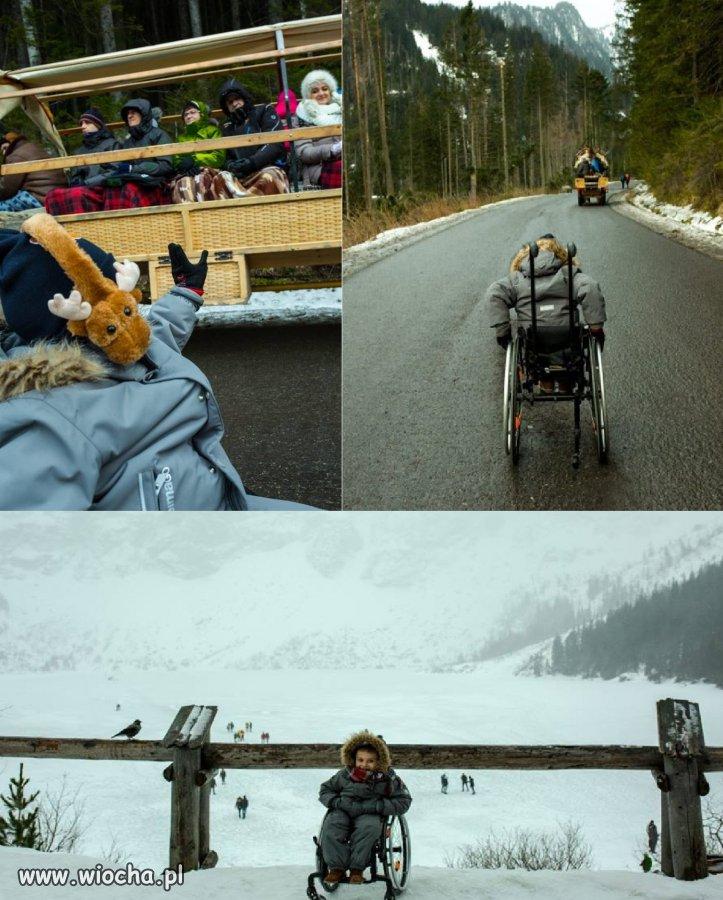 Niepełnosprawny 5-latek wjechał na Morskie Oko