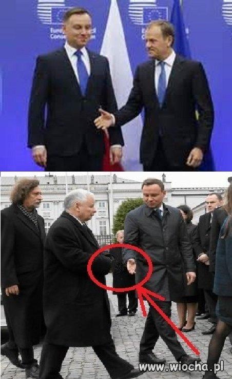 PAD udawał wielkiego  Kozaka i nie umiał podać ręki...