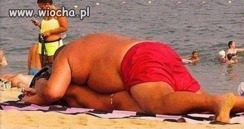 Na plaży...