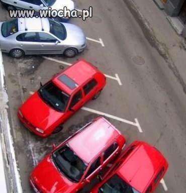 Nie ma to jak parkowanie na ukos