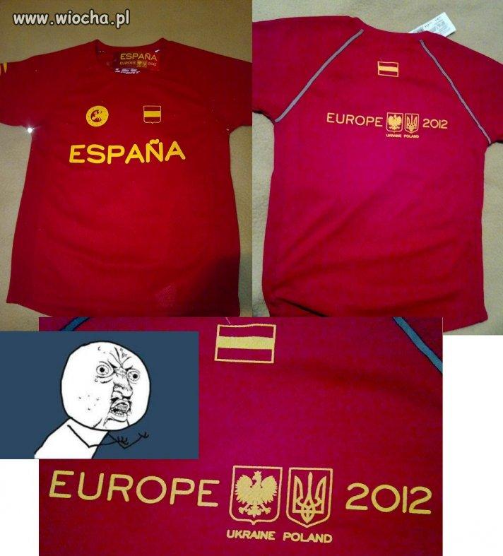 Oficjalne Koszulki Euro 2012 Sprzedawane w Hiszpani