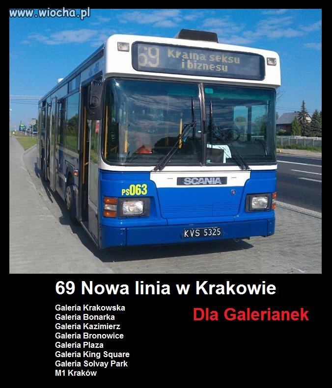 69 Nowa linia w Krakowie dla Galerianek