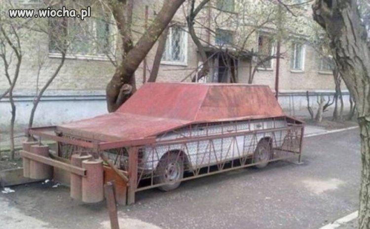 Blokada antywłamaniowa+garaż w jednym