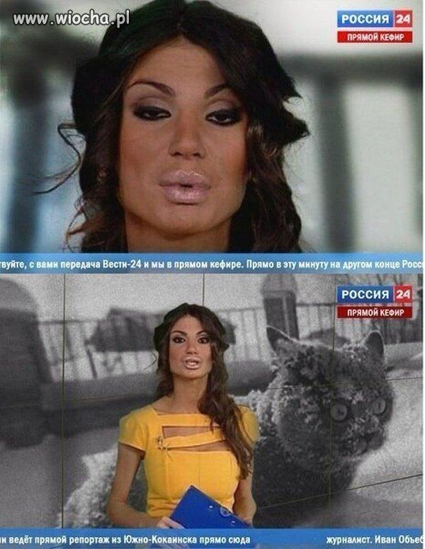Ruska prezenterka - taka naturalna