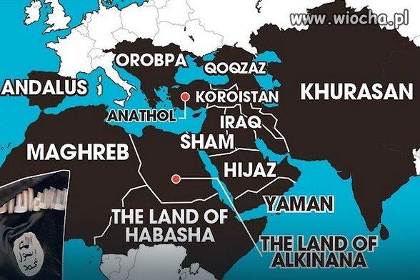 """""""Państwo Islamskie pokazało nową mapę ..."""