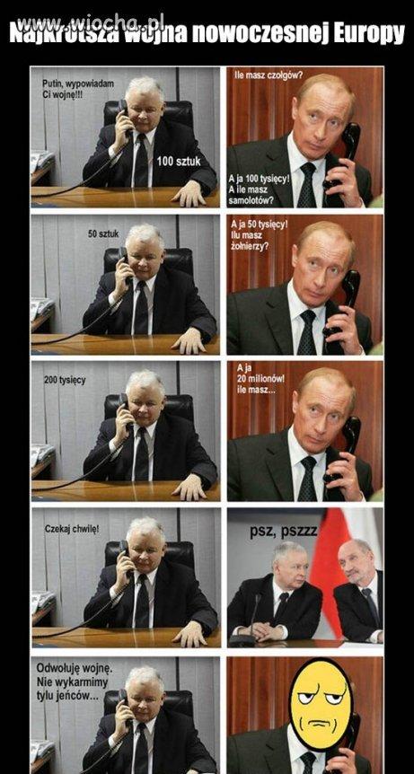 Najkrótsza wojna wywołana przez kaczyńskiego