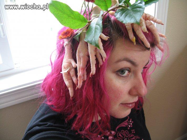 Wianuszek na włosach