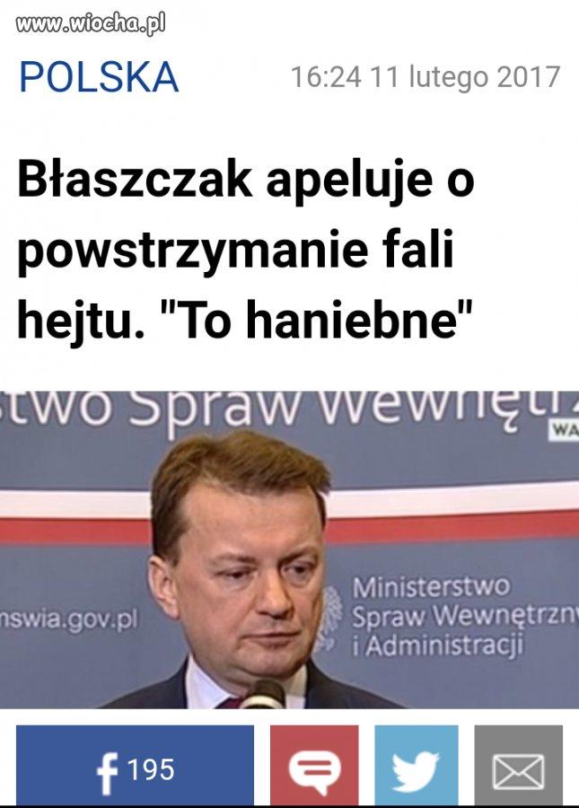 Szanowne Panie ministrze