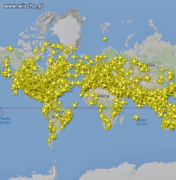 Tyle samolotów codziennie lata po niebie