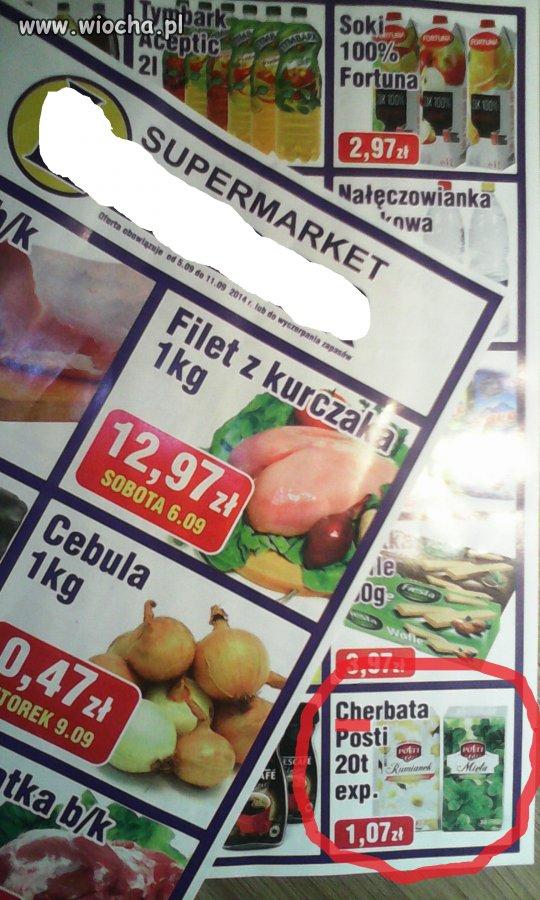 Cherbata w supermarkecie