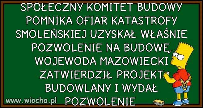Budowa pomnika smoleńskiego na placu Piłsudskiego