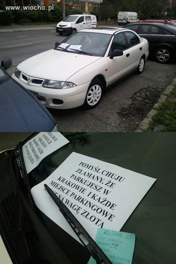 Mistrz parkowania w Krakowie