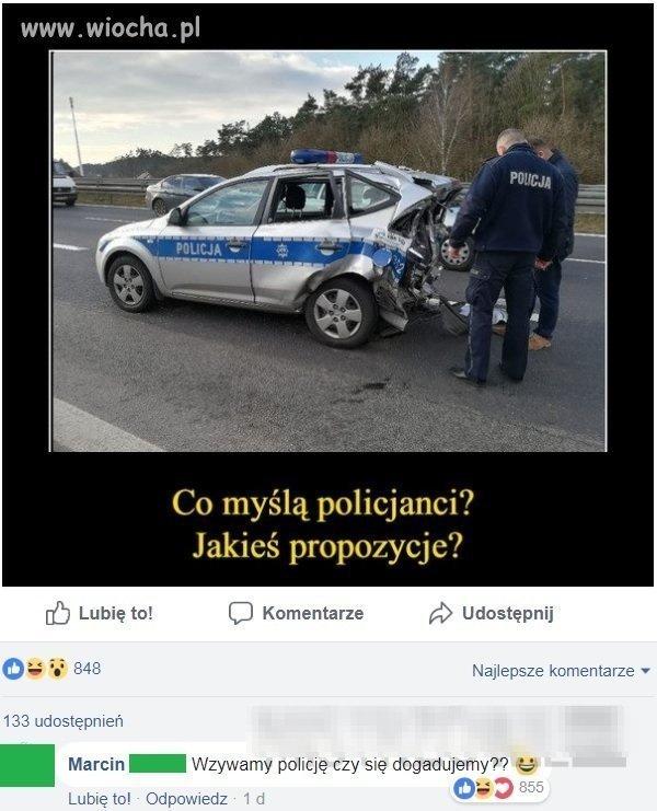 Właśnie czy policjanci mogą się dogadać,