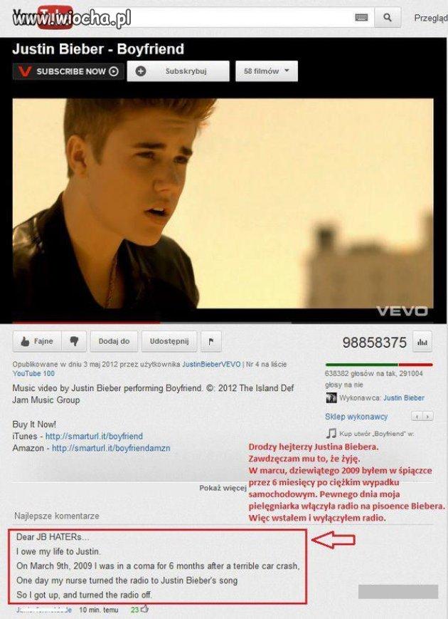 """A jednak Bieber jest """"bogiem"""" ."""