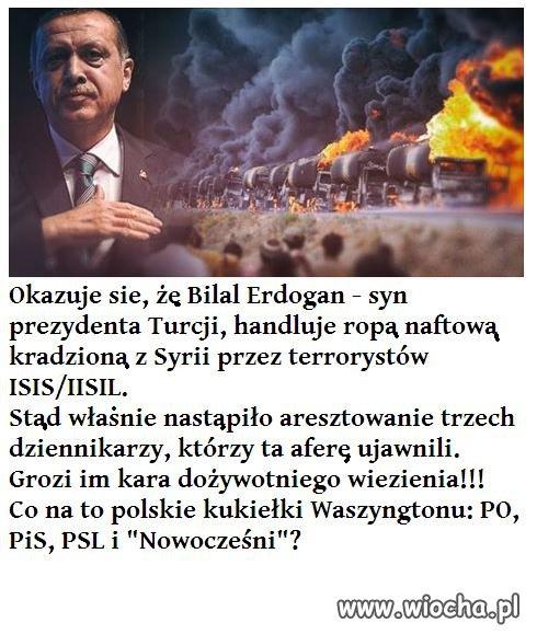 Syn Prezydenta Turcji handluje rop� z ISIS.
