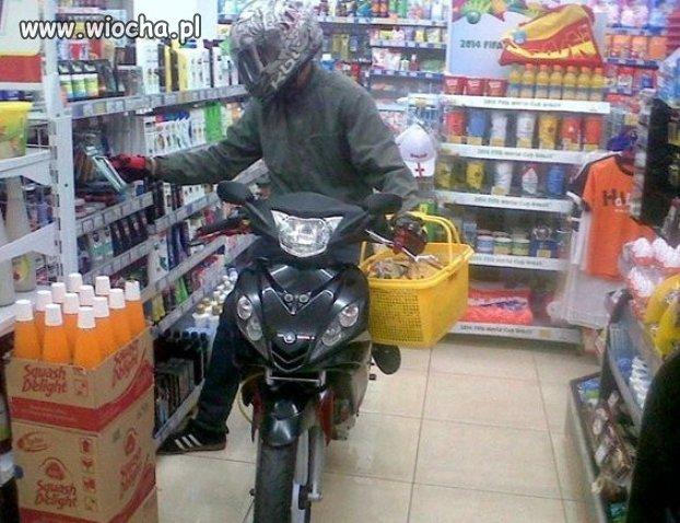 Wpadł na szybkie zakupy