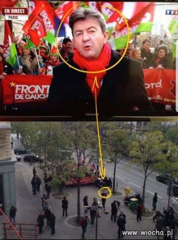 """Francuska telewizja TF1 pokazała """"MASOWE"""" protesty"""
