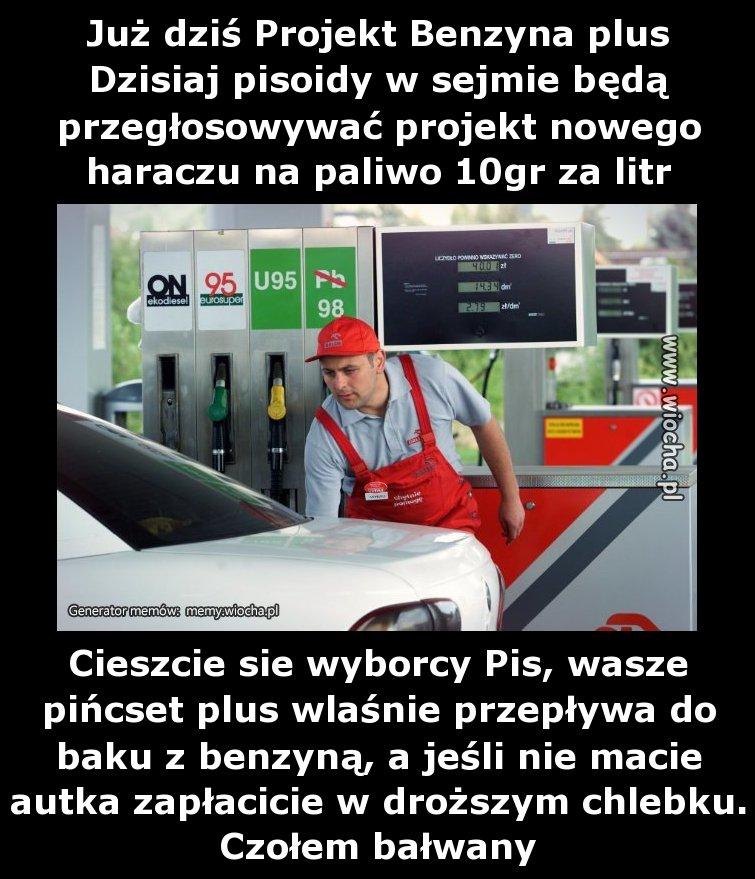Już dziś Projekt Benzyna plus
