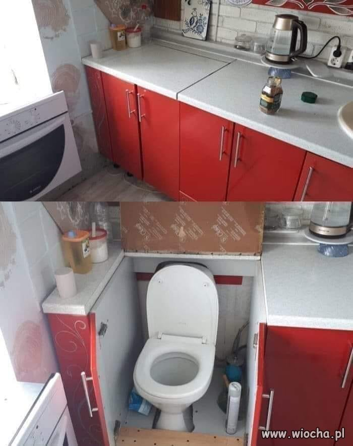 Toaleta w kuchni?