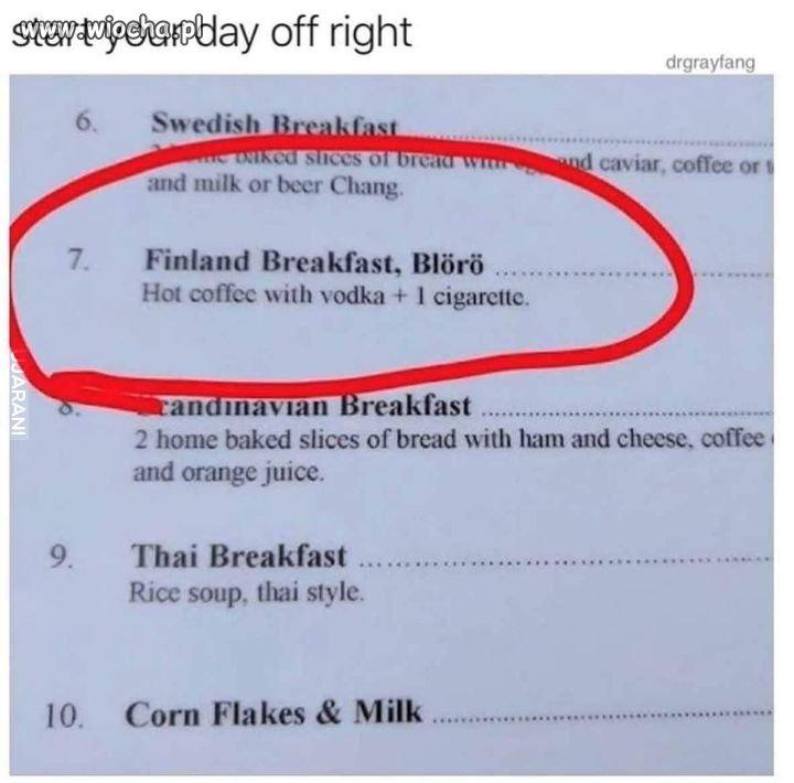 Śniadanie po Finlandzku
