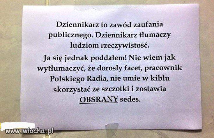 Tymczasem w toalecie Polskiego Radia
