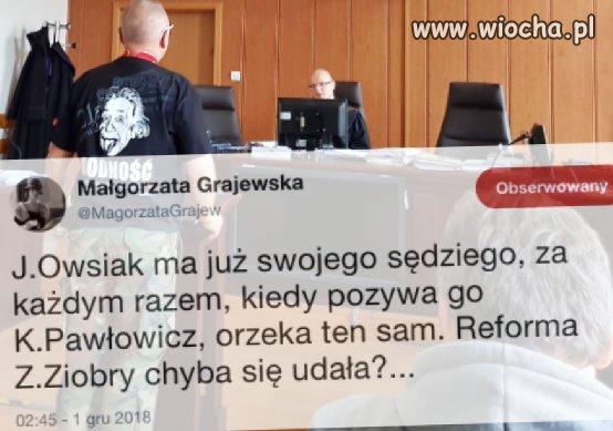 Osobisty sędzia Jurka Owsiaka...