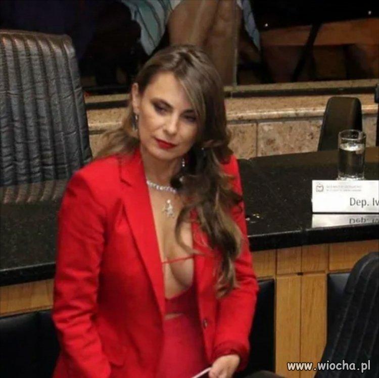 Brazylijska pani senator w pracy