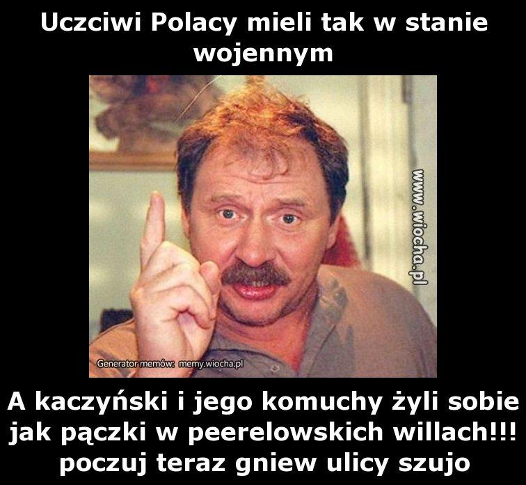 Uczciwi Polacy mieli tak w stanie wojennym