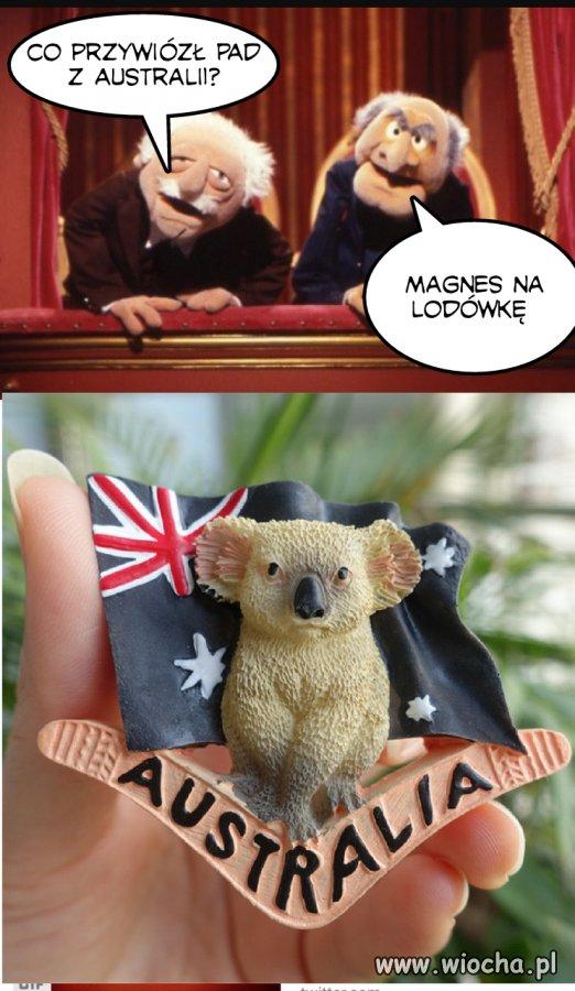 Co przywiózł PAD z Australii?