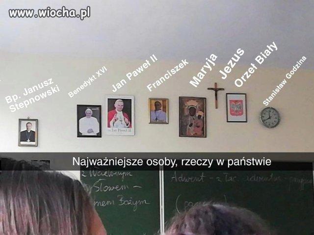 Klasa w (podobno) świeckiej szkole