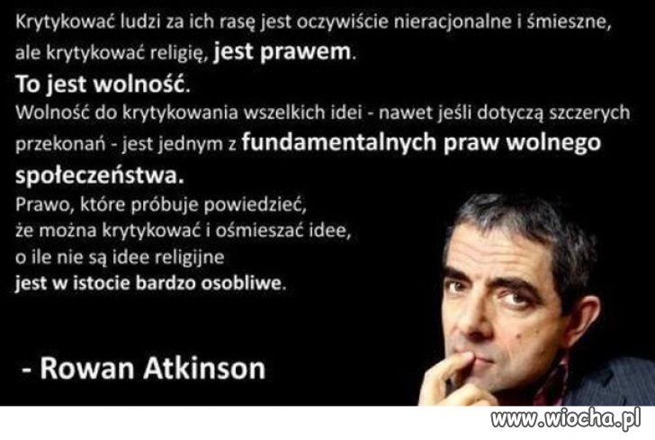 Wolność to też prawo do krytyki ...