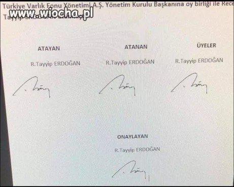 Erdogan zgłosił Erdogana na szefa funduszu