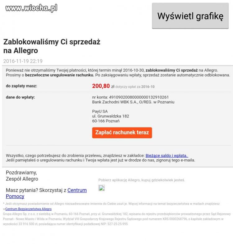 Uwaga Na Falszywe Maile Z Allegro Wiocha Pl Absurd 1396089